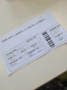 FLIGHT TICKETS AND PASSPORTS